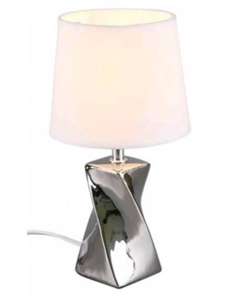 Biela stolová lampa ASKO - NÁBYTOK